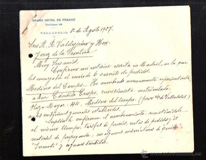 carta comercial. grand hotel de france. vallado - Comprar Cartas ...