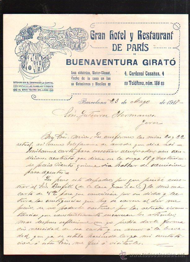 carta comercial. gran hotel y restaurant de par - Comprar Cartas ...