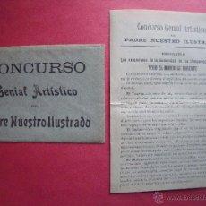 Cartas comerciales: FRANCISCO OLIVERES Y BONEU.-CONCURSO GENIAL ARTISTICO DEL PADRE NUESTRO ILUSTRADO.-TEATRO.-CARTA.. Lote 48743356