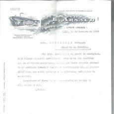 Cartas comerciales: CARTA COMERCIAL B.ARNAUD ETABLISSEMENT LITHOGRAPHIQUES, LYON PARIS 16 OCTOBRE 1903. Lote 48806949