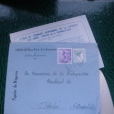 Cartas comerciales: CARTA1954,SORTEO PRIMER ANIVERSARIO, COFRADIA DEL STMO.CRISTO DE LA EXPIRACION-HUESCAR (GRANADA).. Lote 48816000