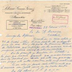 Cartas comerciales: LIBERATO GARCÍA GÓMEZ. PIMENTON JARAIZ DE LA VERA CÁCERES.. Lote 48906032