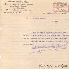 Cartas comerciales: MARIANO VALVERDE RIVERA. AGENTE DE SEGUROS DE GANADOS, BAR, ETC. VALENCIA DE ALCÁNTARA. CÁCERES. Lote 49510947
