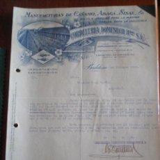 Cartas comerciais: 1933 BADALONA (BARCELONA). CARTA COMERCIAL CORDELERIA DOMENECH. MANUFACTURAS CAÑAMO, ABACA, SISAL. Lote 49665616