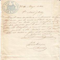 Cartas comerciales: CARTA COMERCIAL AGENCIA GENL. DE TARRAGONA AÑO 1861 A CARGO DE MARTI Y ORDEIG DE REUS. Lote 49780294