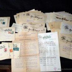 Cartas comerciales: GRAN LOTE DOCUMENTOS HIJOS DE M. PUIGVERT. FABRICA DE EMBUTIDOS. MARCA EL TRINEO. OLOT (GERONA). AÑO. Lote 50067782