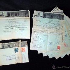 Cartas comerciales: GRAN LOTE DOCUMENTOS T. MIGUEL GARCÍA. FABRICA DE QUESOS. MARCA DULCINEA. MADIRD. AÑOS 50. Lote 50067793
