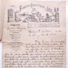 Cartas comerciales: CARTA COMERCIAL REVISTA EL FOMENTO INDUSTRIAL MERCANTIL AGUSTIN UNGRIA MADRID 1911. Lote 50192357