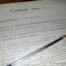 Cartas comerciales: WENCESLAO MONERRIS ROVIRA, TURRONES Y DULCES, JIJONA ALICANTE 1939 AÑO DE LA VICTORIA. CONTRATO.. Lote 40416275