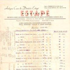 Cartas comerciales: FRA LISTAS DE PRECIO DE ESTAPE. BARCELONA. PIROTECNICA, FUEGOS ARTIFICIALES. 1951. VELL I BELL. Lote 50481518