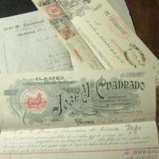 Cartas comerciales: JOSE MARIA CUADRADO, VALENCIA, 1915, PASAMANERIA, FACTURA Y LETRA DE CAMBIO -DOCA-. Lote 50584966