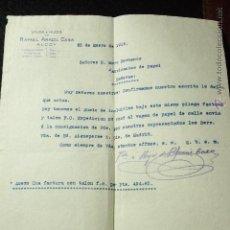 Cartas comerciales: RAFAEL ARACIL CASA, ALCOY, 1915 -DECA-. Lote 50584977