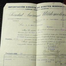 Cartas comerciales: SOCIEDAD ANONIMA ULLDEMOLINS, CORREAS, GOMAS Y AMIANTOS, VALENCIA, 1915. Lote 50585006