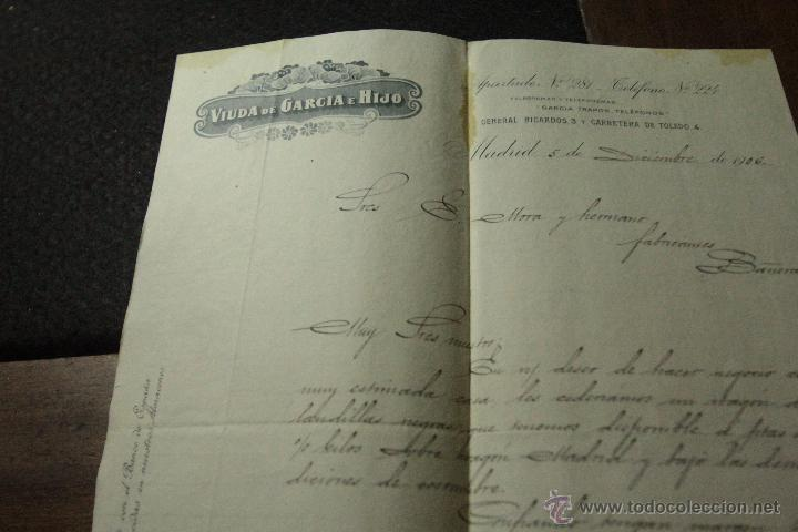 VIUDA DE GARCIA GISBERT E HIJO, MADRID, 1906 -DOCA- (Coleccionismo - Documentos - Cartas Comerciales)