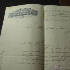 Cartas comerciales: VIUDA DE GARCIA GISBERT E HIJO, MADRID, 1906 -DOCA-. Lote 50585397