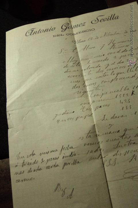 ANTONIO GOMEZ SEVILLA, VILLENA, ALICANTE, 1906 -DOCA- (Coleccionismo - Documentos - Cartas Comerciales)