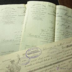 Cartas comerciales: JUAN MOYANO, IMPORTACION ACEITES, VALENCIA, 1914 -DOCA-. Lote 50585498