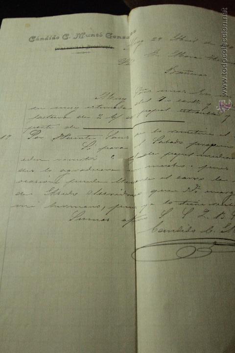 CANDIDO G. MUNTÓ GONZÁLEZ, ALCOY, 1902 -DOCA- (Coleccionismo - Documentos - Cartas Comerciales)