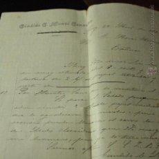 Cartas comerciales: CANDIDO G. MUNTÓ GONZÁLEZ, ALCOY, 1902 -DOCA-. Lote 50585806