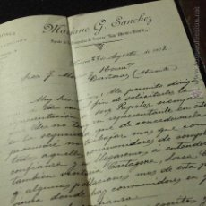 Cartas comerciales: MARIANO G. SANCHEZ, AGENTE DE LA COMPAÑIA DE SEGUROS LA NEW YORK, MURCIA, 1902. Lote 50585823