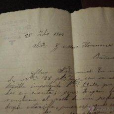 Cartas comerciales: JERÓNIMO MARTINEZ, GANDIA, 1902, ALMACEN DE PAPEL -DOCA-. Lote 50614746