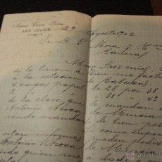 Cartas comerciales: ANTONIO CONESA GARCIA, SAN JAVIER, 1902 -DOCA-. Lote 50614752