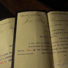 Cartas comerciales: JOSÉ PEREZ Y COMPAÑIA, ALCOY, 1913, TALLER DE CONSTRUCCION -DOCA- . Lote 50620033