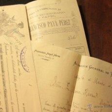 Cartas comerciales: FRANCISCO PAYÁ PÉREZ, ALCOY, 1905, EXPLOTACIÓN DE TRAPOS -DOCA-. Lote 53413387