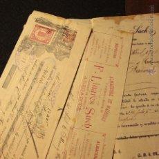 Cartas comerciales: F. LINARES SUCH, ALICANTE, ALMACEN DE MADERAS, 1906 -DOCA-. Lote 50627859