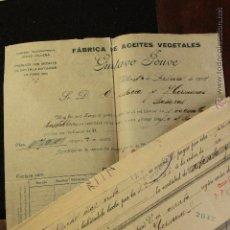Cartas comerciales: GUSTAVO JOUVE, VILLENA, FABRICA DE ACEITES VEGETALES, 1914 -DOCA-. Lote 50632628