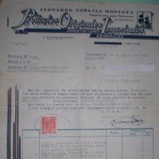 Cartas comerciales: 4 CARTA COMERCIAL MAQUINAS DE MOLINERIA VALENCIA. Lote 50767222