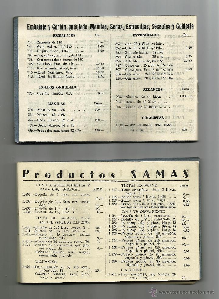 Cartas comerciales: Tarifas de MANUFACTURAS ANRO S.A. / 2 libretas de 1952 - Foto 2 - 51416702