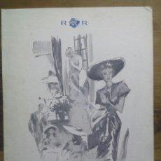Cartas comerciales: ROSALEDA / CARTA MENÚ / ILUSTRADA POR PERE CLAPERA / 19 MAYO 1948. Lote 51979259