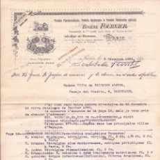 Cartas comerciales: EUGÈNE FOURNIER / PRODUCTOS FARMACÉUTICOS / PARÍS / 2 DICIEMBRE 1889. Lote 52001187