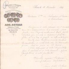 Cartas comerciales: ADH. DETHAN / PRODUCTOS FARMACÉUTICOS / PARÍS / 11 DICIEMBRE 1889. Lote 52001238