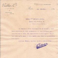 Cartas comerciales: GABLIN & CIE / TELEGRAMMES FULFORD / PARÍS / 1 DICIEMBRE 1899. Lote 52003472