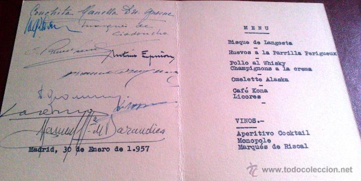 Cartas comerciales: CARTA MENU AÑO 1957, RESTAURANTE COMMODORE, SERRANO 145, MADRID. VER DETALLES, ILUSTRA.CS DE TEJADA - Foto 2 - 52386052