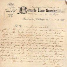Lettere commerciali: BERNARDO LLANO GONZALEZ. EXPORTACIÓN DE PIEDRA DE CRISTAL Y SIDRA. RIVADESELLA COLLERA. ASTURIAS . Lote 52855390
