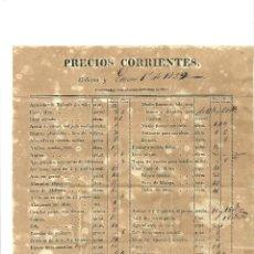 Cartas comerciales: 1465.- LA HABANA-CUBA-TARRAGONA-CARTAS COMERCIALES-LISTA DE PRECIOS-VINO-TABACO-AGUARDIENTE. Lote 52896724
