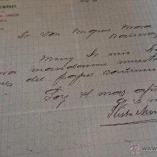 Cartas comerciales: SEVILLA, 1896, LA ALEGRIA, VINOS Y LICORES, CALLE ORIENTE, 22 -CARTA COMERCIAL. Lote 53100687