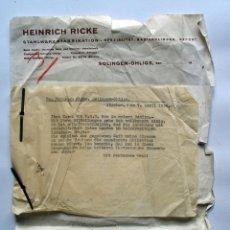 Cartas comerciales: CARTA COMERCIAL EMPRESA ALEMANA ESPECIALIZADA EN HOJAS DE AFEITAR, CASI EN LA GUERRA CIVIL. 1936. Lote 53197190