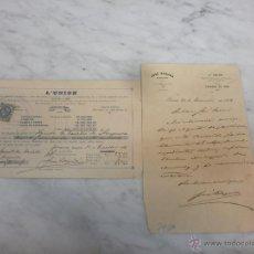 Cartas comerciales: PAPEL SECANTE - L´UNION - COMPAÑÍA FRANCESA DE SEGUROS - SELLO SUBDIRECCIÓN GERONA - 1 DE ENERO 1898. Lote 53743176