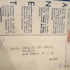Cartas comerciales: CANET, GESTOR ADMINISTRATIVO COLEGIADO, ALICANTE, A ALCOY, . Lote 53755538