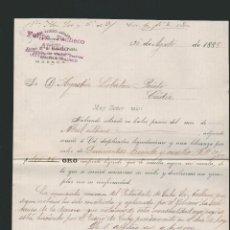 Cartas comerciales: CARTA COMERCIAL DE FELIPE PACHECO. AGENCIA GENERAL DE CLASES PASIVAS DE CUBA. HABANA. CUBA. 1888. Lote 54693838