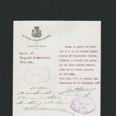 Cartas comerciales: ALCALDIA CONSTITUCIONAL DE ALGECIRAS.NEGOCIADO O.INDUSTRIAL.AÑO 1908.. Lote 54693964