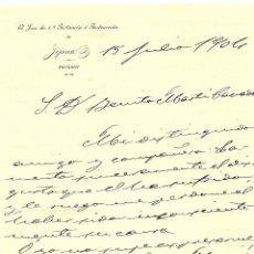 Cartas comerciales: JIJONA (ALICANTE) - CABECERA JUEZ DE 1ª INSTANCIA E INSTRUCCIÓN DE JIJONA, PARTICULAR - AÑO 1904. Lote 55351816