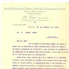 Cartas comerciales: BARCELONA - A. CRUSET, OFICINA TÉCNICA PARA EL ESTUDIO Y OBTENCIÓN DE PATENTES DE INVENCIÓN - 1906. Lote 55351861