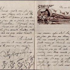 Cartas comerciales: L1-695 CARTA DE AMOR PUBLICITARIA ROMÁNTICA = NO ME OLVIDES = CIRCULADA AÑO 1953. Lote 56180462