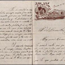 Cartas comerciales: L1-695 CARTA DE AMOR PUBLICITARIA ROMÁNTICA = PIENSA EN MI = CIRCULADA EL AÑO 1953. Lote 56180613