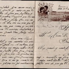 Cartas comerciales: L1-695 CARTA DE AMOR PUBLICITARIA ROMÁNTICA = SIEMPRE TE AMARE =CIRCULADA EL AÑO 1953. Lote 56180627